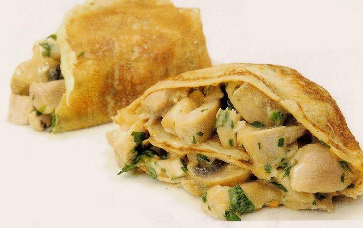 Varomeando: Crêpes de pollo y champiñones