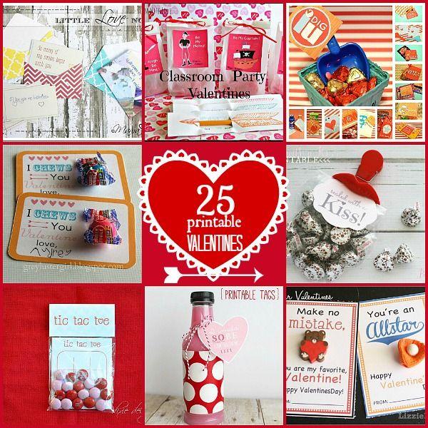25 FREE printable valentines! Great ideas!