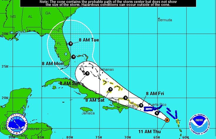The projected path of Tropical Storm Erika has veered slightly north since yesterday, putting Miami out of the middle of various computer forcecasting models, but the city is still abuzz about the possibility of its first Hurricane strike in years (and knowing how quickly those forecast models can change, its...