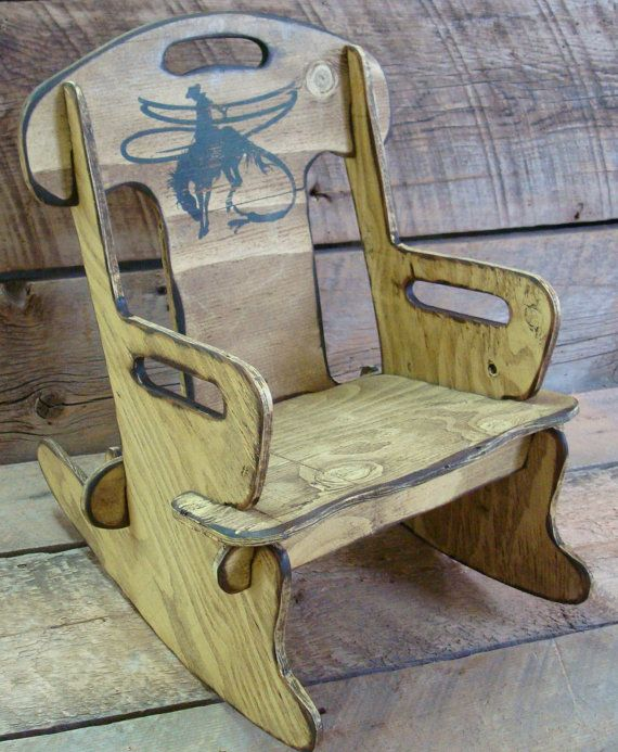 Puzzle RockerRocking chair for kids. Rustic by WorkHorseFurniture, $69.00