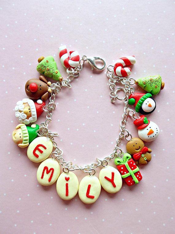 Personalized Name Bracelet Christmas Bracelet Custom Name #christmas #christmasgifts #noel #rudolph #xmasgifts #xmas #santa #santaclaus