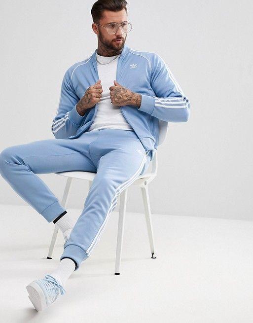 adidas Originals - adicolor - Veste de survêtement - Bleu CW1258