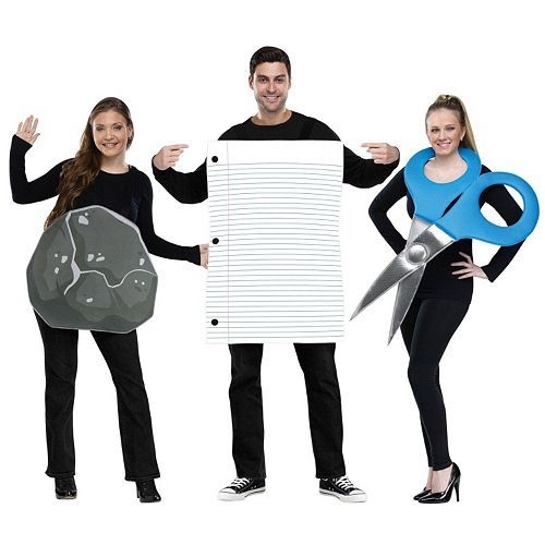 Rock Paper Scissors costume!!! Love this!