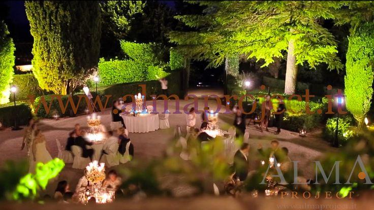 ALMA PROJECT @ Villa di Ulignano - trees lighting - street light - uplights hedges bose l1