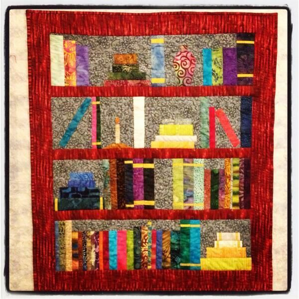 Bookshelf Quilt - PAPER PIECING PATTERN Names, Quilt and Paper