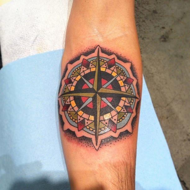 Nautical compass tattoo tattoo traditionaltattoo for Nautical compass tattoo