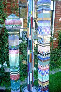 Mosaic Patio Poles by Sue M.