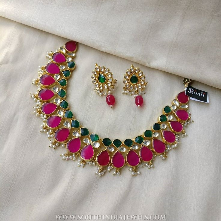 Colorful+Kundan+Necklace+Set