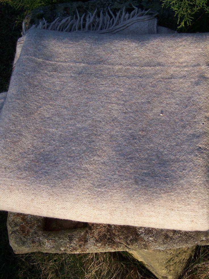 Handwoven sheep wool cloth..