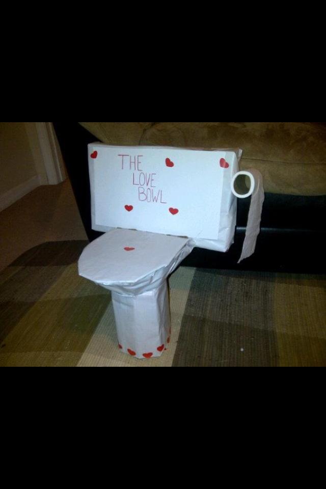 Toilet Bowl Valentines Day Box Craft Ideas Pinterest