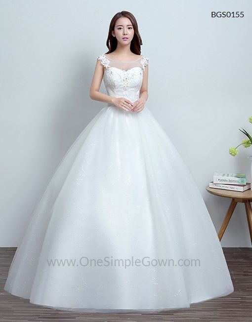 Trendy One Shoulder Side Draping Floor Length Ball Gown Wedding Dress