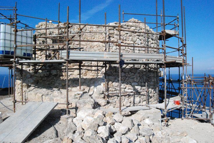 Torre di Capo Mannu. Il cantiere.