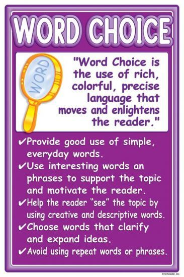 Teaching Kids Author S Word Choice