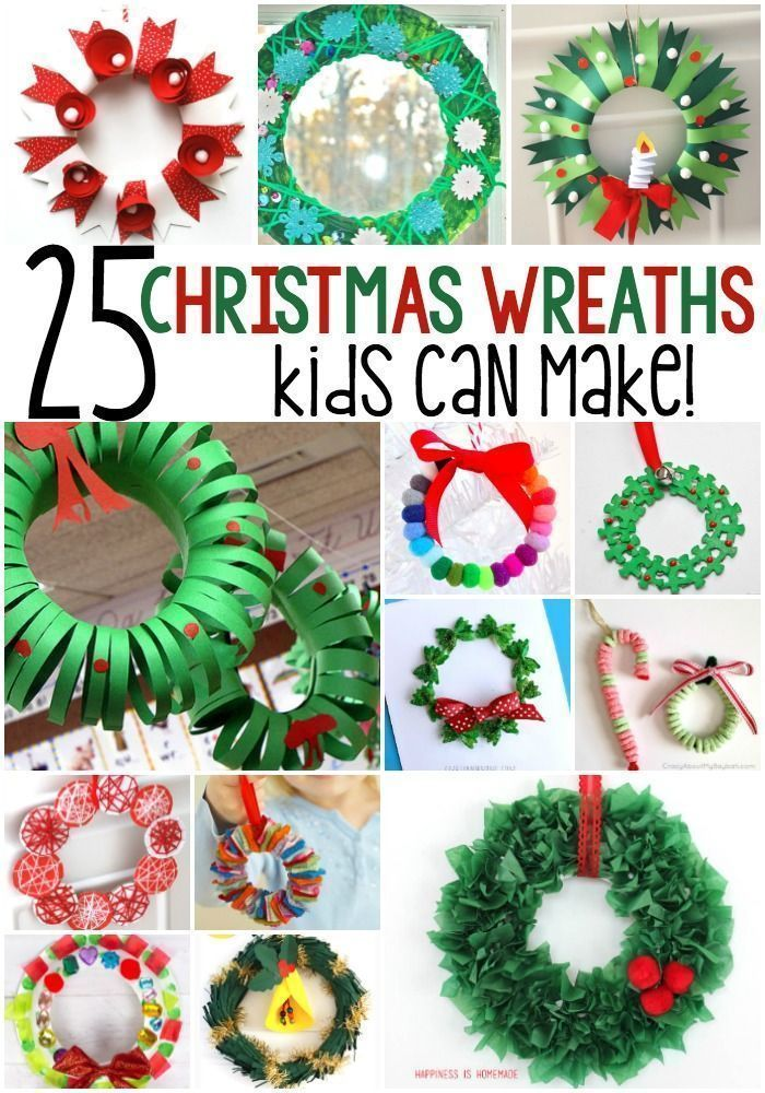25 Winter Wreath Crafts For Kids Christmas crafts