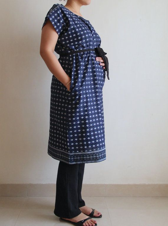 Hospital gown L Birthing gown Delivery gown by ADifferentWeave