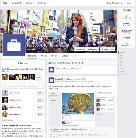 Facebook Pages Baru