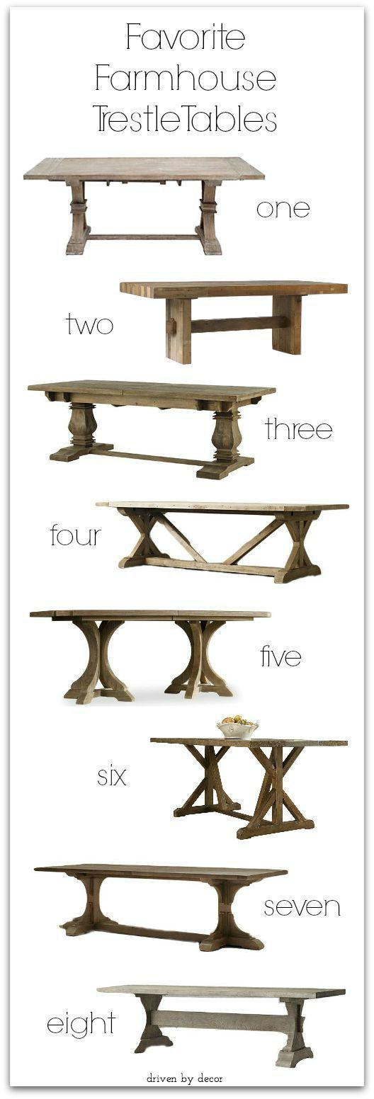 Favorite Farmhouse Trestle Tables Progress On Our Kitchen Banquette