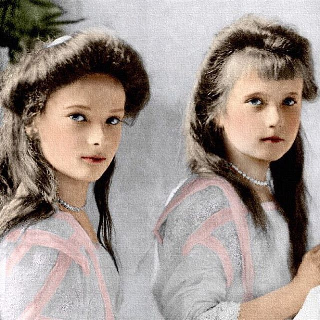 Grand Duchesses Tatiana and Anastasia…