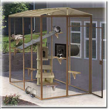 SunCATcher 5' x 8' Sectional Outdoor Garden Cat Enclosure - to think about for a patio