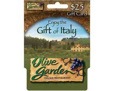 Enter to Win a $25 Olive Garden Gift Card - Ends November 29th at Midnight
