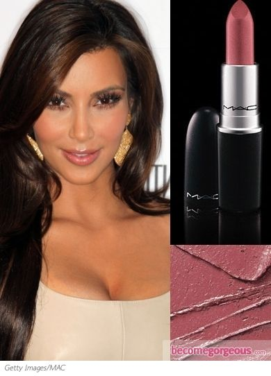 Even if you are not a fan of Kim K. - her make-up always looks fantastic.  I love her nude lipcolor - She uses MAC Angel Lipstick, Stripdown MAC lip liner and NARS Turkish Delight lip gloss.  I have tried this lipstick combination and it looks great with a smoky eye.