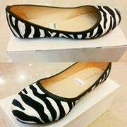 Zebra Flatshoes only IDR 65K. Material: Suede and soft leather. (for detail please invite 22d19f56 or mssg 085793303059)
