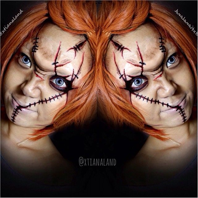 #chucky makeup #Halloween #makeup that's sick!!