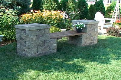 Garden Rock Bench DIY