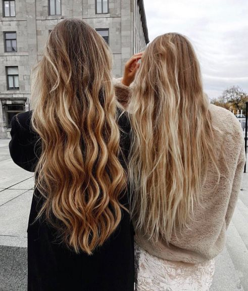 beach waves hair. Wavy, curly, long, dirty blonde, streaks, highlights, textured, best friend pictures photos