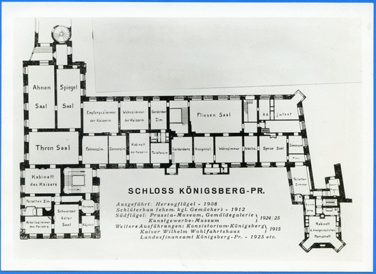 K Nigsberg Schlo Castle First Floor Plan Grundriss