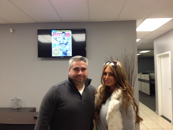 Miss Prestin, the winner of the 2012 Hot and Fit 100 dropped by our office yesterday. Here she is, looking as lovely as ever, with Terry Frendo, the man behind the magic at Inside Fitness Magazine.