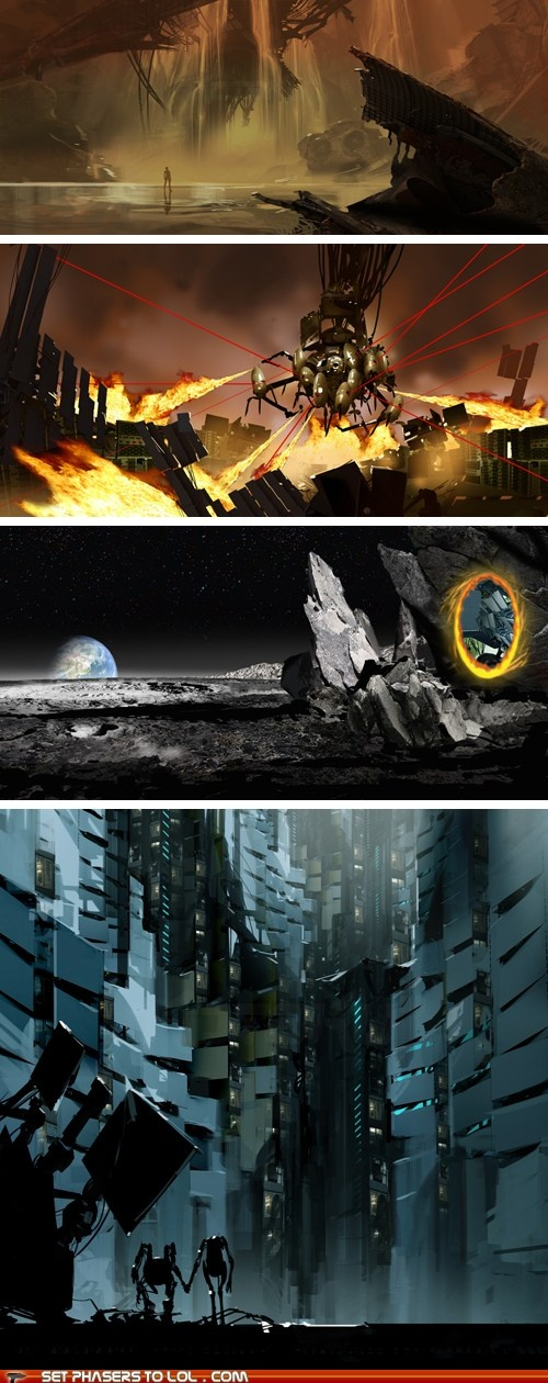Art of Portal 2 - Epic. Atlas and Peabody at the bottom make me all feely, aw.
