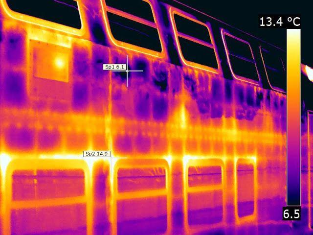 Termografia: Manutenzione periodica delle carrozze ferroviarie