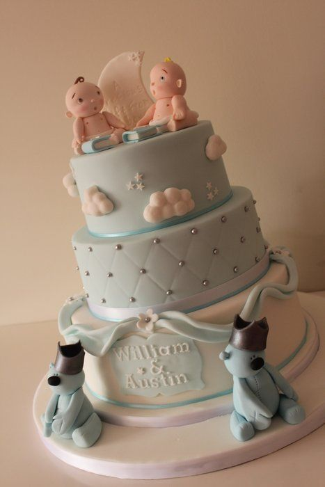 Baby Boy Square Christening Cakes