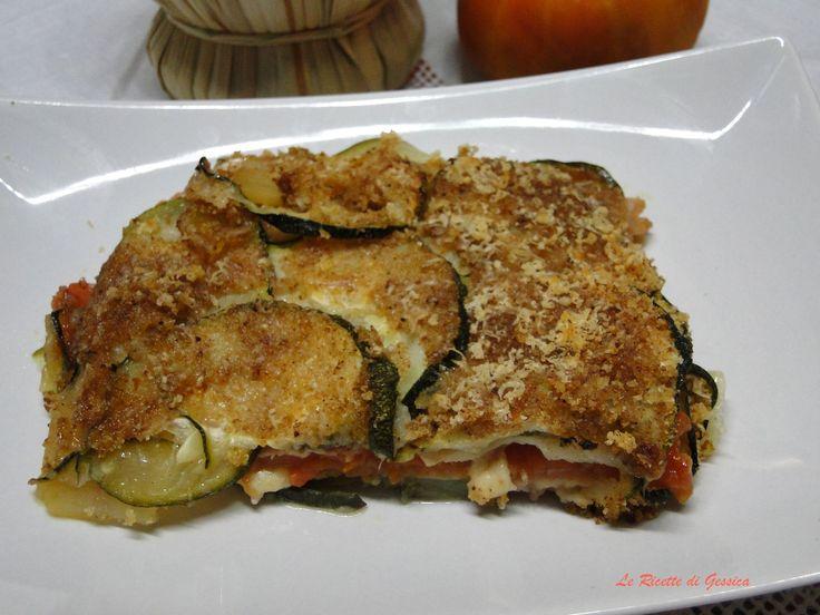 Teglia di Zucchine e Pomodori gratinati