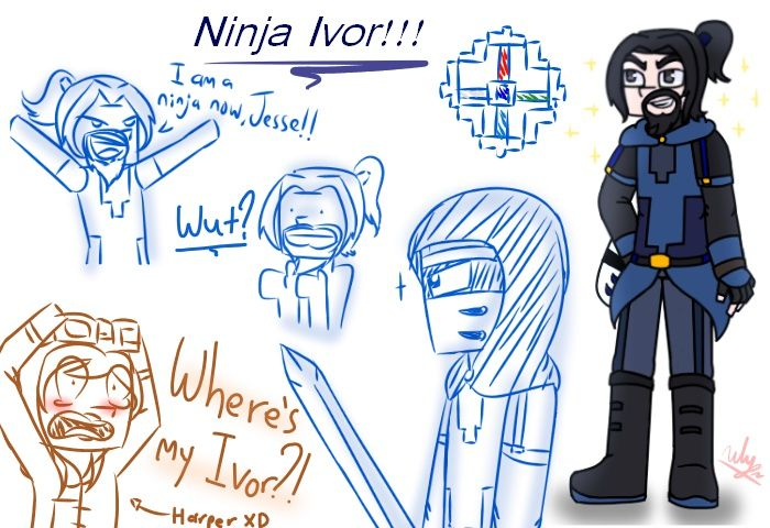 Minecraft Story Mode S2 Ninja Ivor Reference By Themaroonlightning Minecraft Memes Minecraft Story
