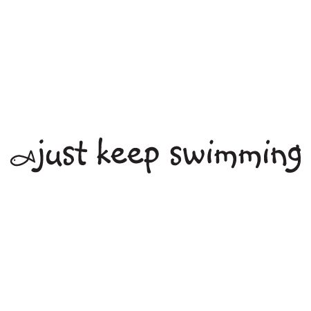 Just Keep Swimming Wall Quotes™ Decal