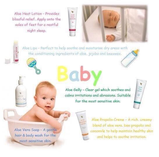 Aloe Vera products for your baby, your sweety only gets the best..... Www.ourbodyforever.com