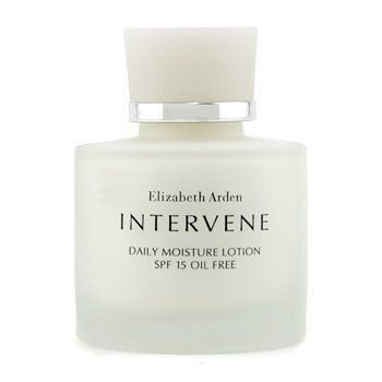 Intervene Daily Moisture Lotion SPF 15 Oil Free 50ml/1.7oz by Elizabeth Arden. $37.99. This beauty product is 100% original.. A weightless oil-free hydrating lotion Formulated with an advanced hydrating system alpha & beta hydroxy compounds Helps refine clarify & re-texturize skin Contains an exclusive botanical complex to pacify & relieve very sensitive skin Blended with vitamins C & E Shields skin with SPF 15 UVA/UVB sunscreen Skin appears supple sleek lumin...