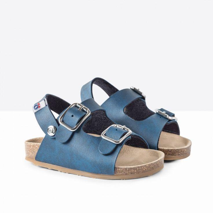 Sandalias de bebé bio azul - Calzado - Bebé - Osito by Conguitos #conguitos #osito #shoes #collection #ss18 #marino #sandalia #bio