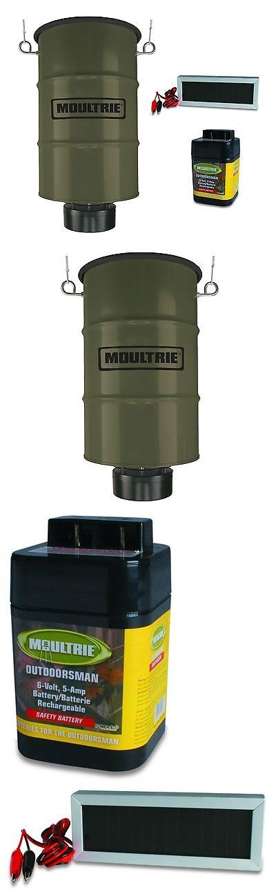 Game Feeders and Feed 52504: Moultrie 30 Gallon Pro Magnum Hanging Deer Feeder W 6V Battery And Solar Panel -> BUY IT NOW ONLY: $199.99 on eBay!