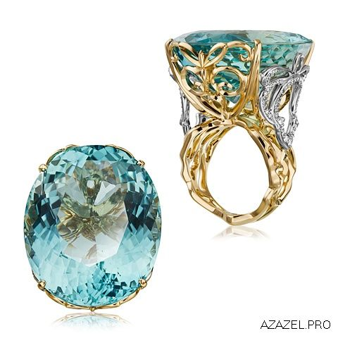 Перстень с Аквамарином Ring with Aquamarine  #aquamarine #магазин #stone #gallery #diamond #кольцо #красота #перстень #мода #стиль #fashion #woman #blue #style #jewelry #bijouterie #gemstone #exclusive #russia #украшения #аквамари�