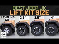 "Jeep Wrangler JK Leveling Kit vs 2.5"" vs 3.5"" vs 4"" - How To Select The Best Jeep Lift Kit - YouTube"