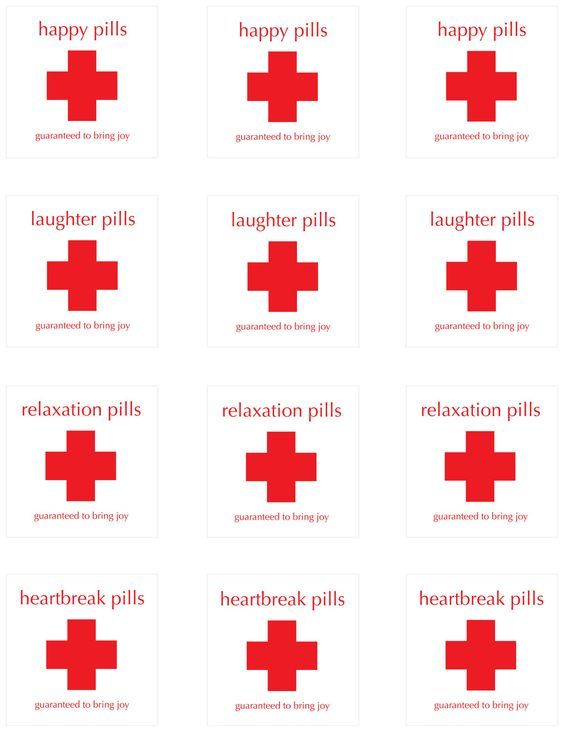 Happy Pill Labels: