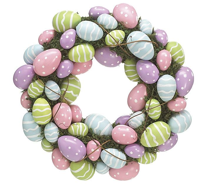 plastic egg wreath | Details about 55 Easter Eggs Wreath