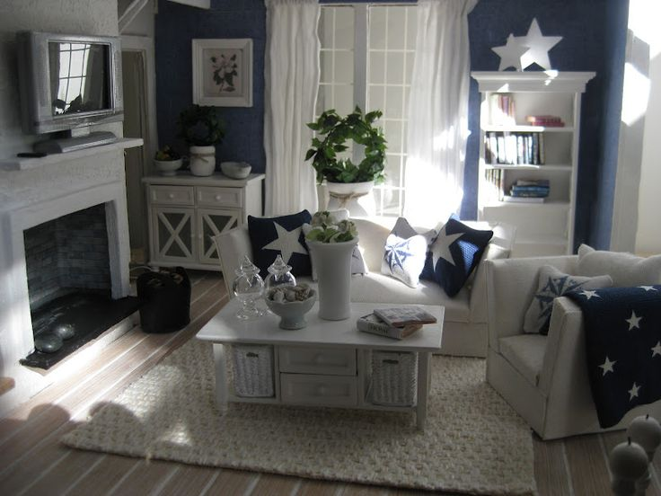 Nautical Living - not a direct link - 228 Best Images About Dollhouse Living Room On Pinterest