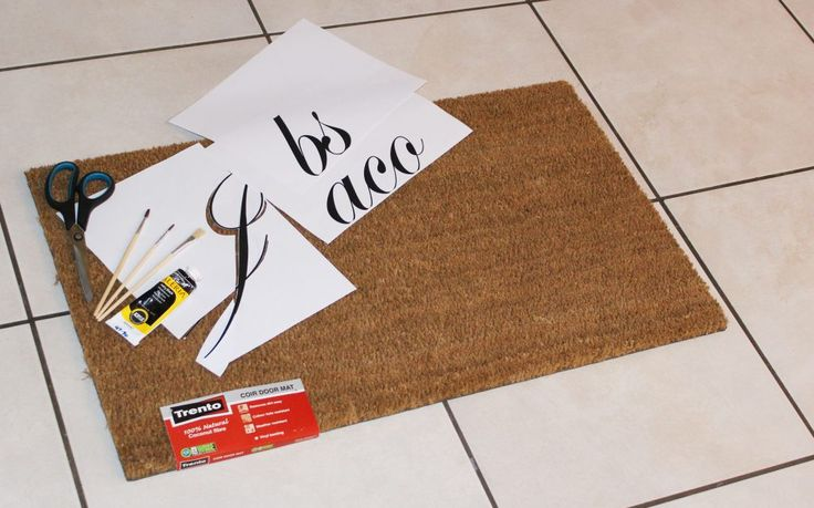 Suppleis necessary to DIY your own personalised doormat