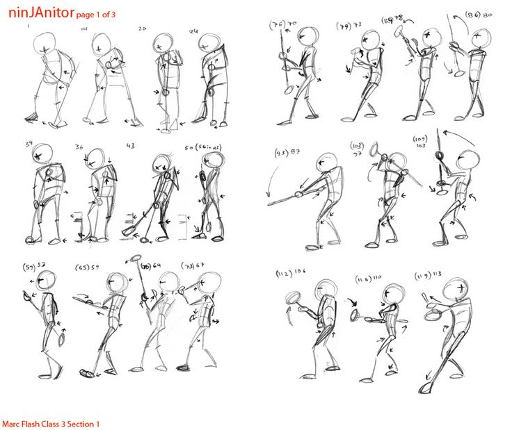 Prof. Marc Flash's Animation: Animation Mentor Class 3 Advanced Body Mechanics