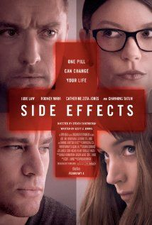 Side Effects (2013)  106 min  -  Crime | Drama | Thriller  ******A young woman's world unravels when a drug prescribed by her psychiatrist has unexpected side effects.   ****Stars:  Rooney Mara, Channing Tatum, Jude Law   ***A good thriller to the very end....