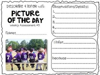 "DESCRIBING & INFERRING DETAILS WITH PICTURE OF THE DAY: READING PHOTOS ""CLOSELY"" - TeachersPayTeachers.com"